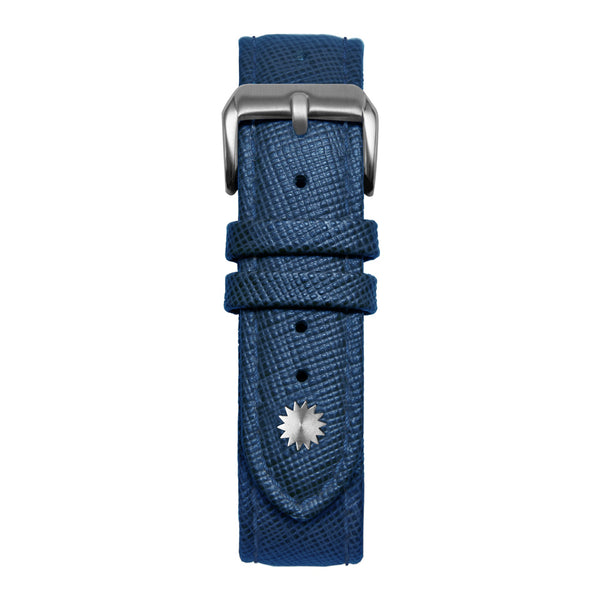 16' Blue Saffiano Leather Strap