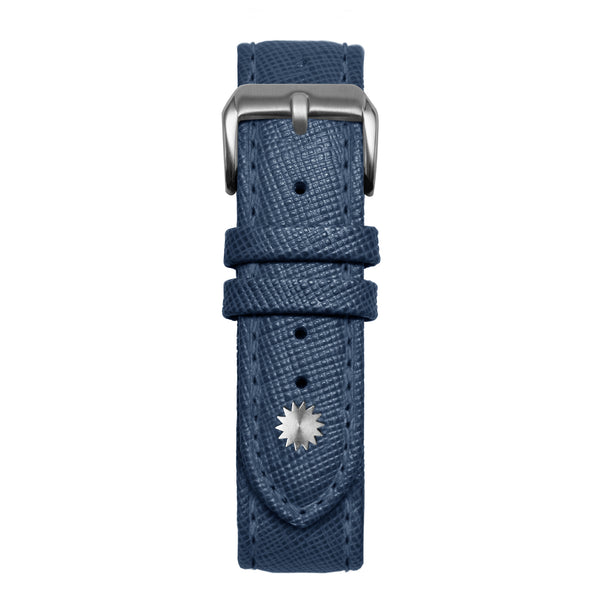 20' Blue Saffiano Leather Strap