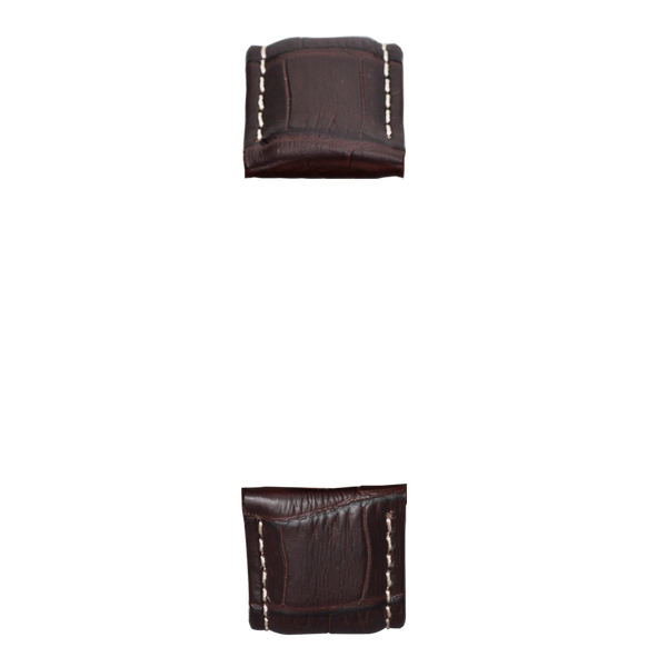 Dark brown/White bamboo leather