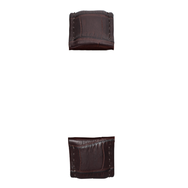 Dark brown bamboo leather