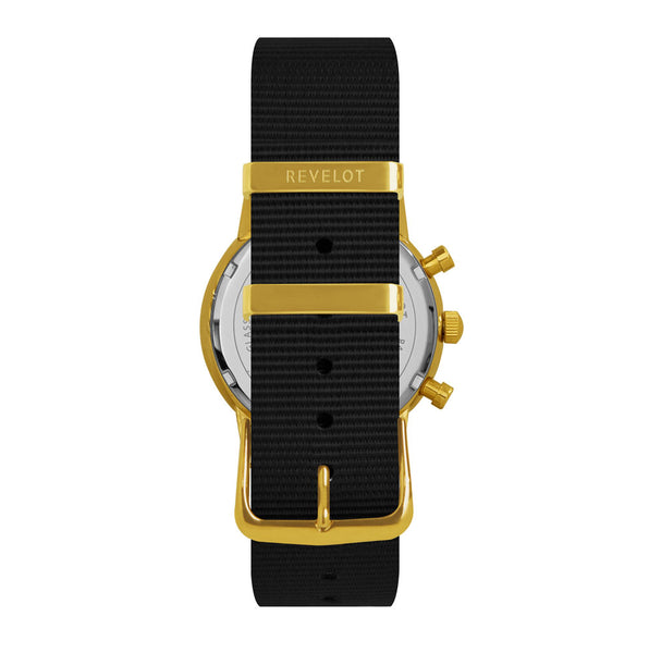 38' Black/Gold Chronograph - REVELOT
