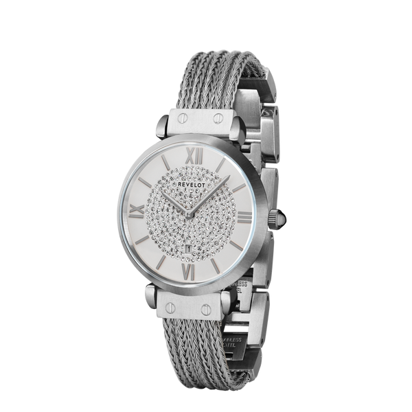 R5 Femme White/Silver/Silver