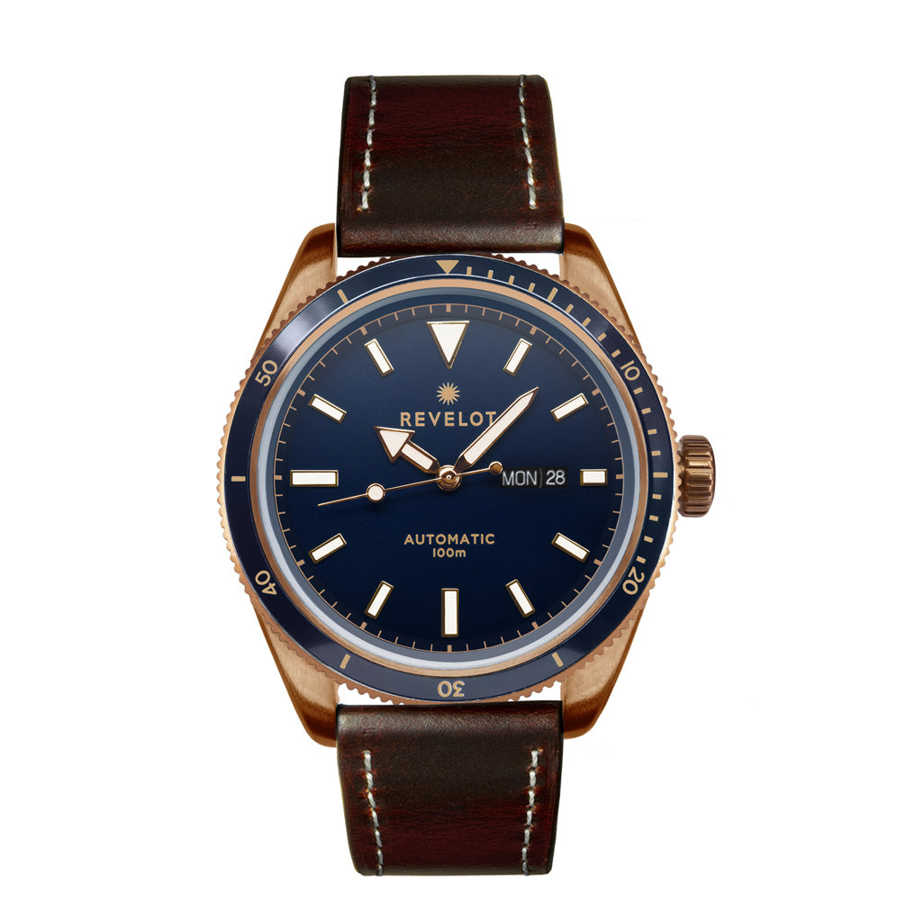 44' Blue/Rose Gold Automatic