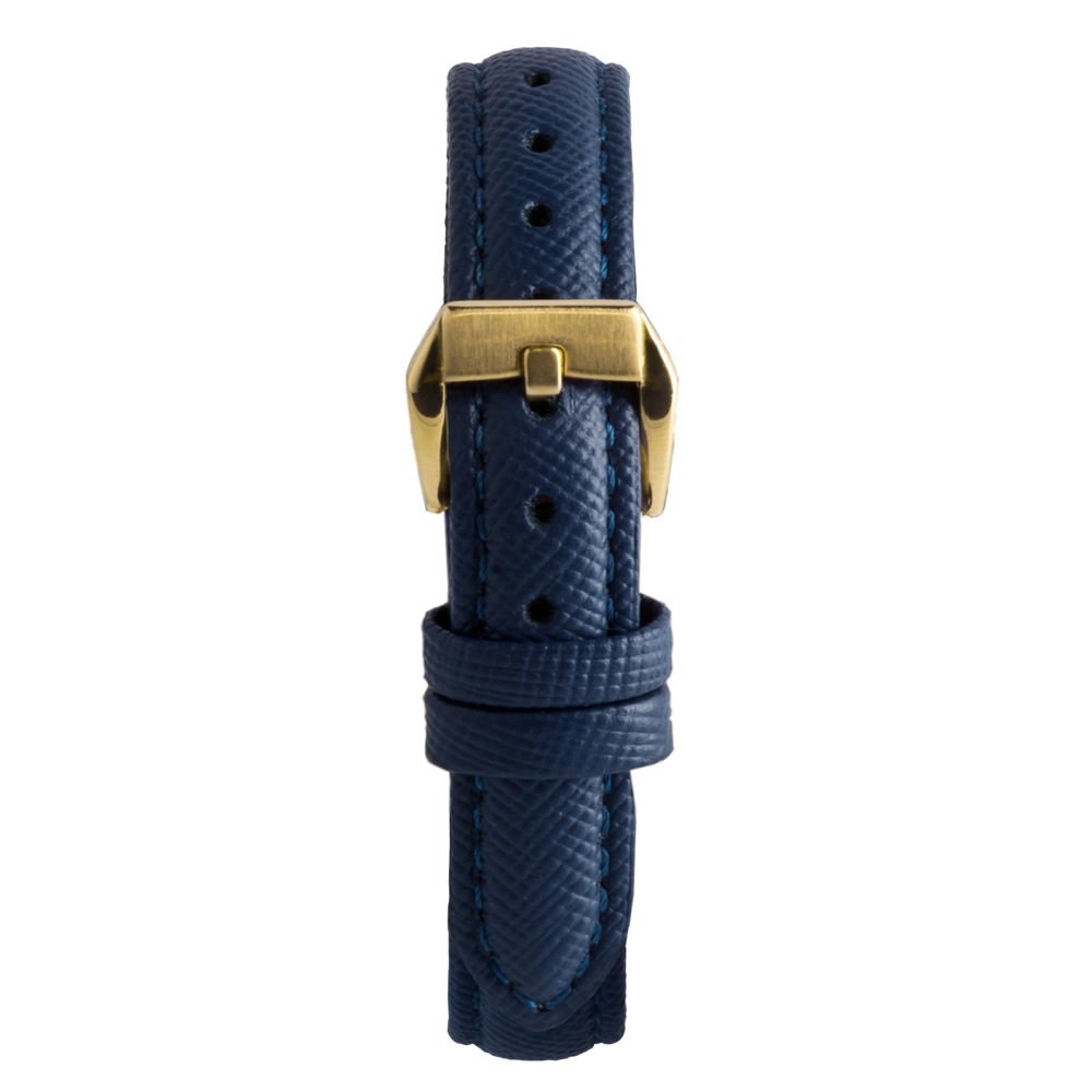 14' Blue Saffiano Leather Strap