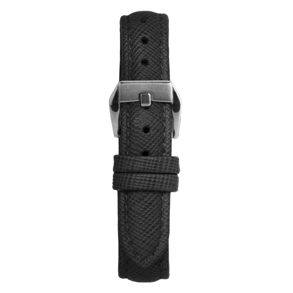 14' Black Saffiano Leather Strap