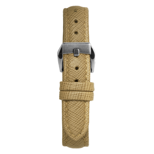 14' Beige Saffiano Leather Strap