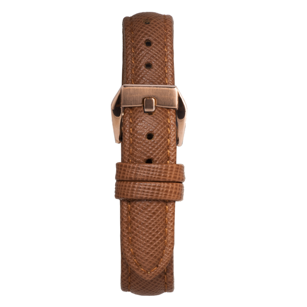 Brown saffiano strap
