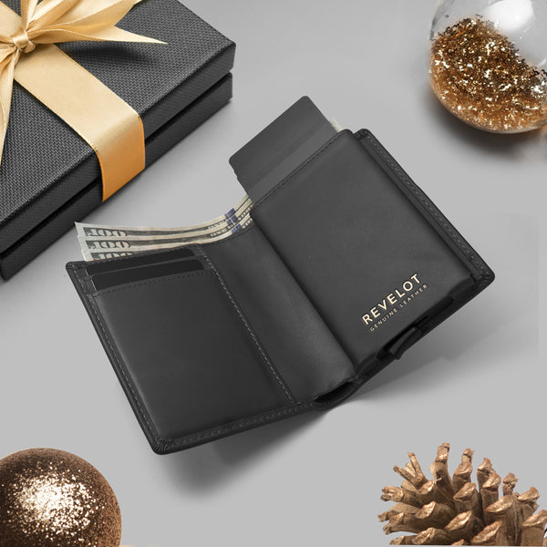 Classic Black Single Men's Smart Wallet