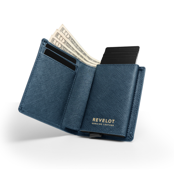 Saffiano Blue Smart Wallet / W1