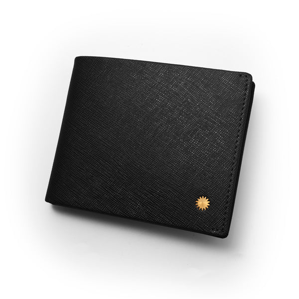 Saffiano Black Slim Wallet / W2