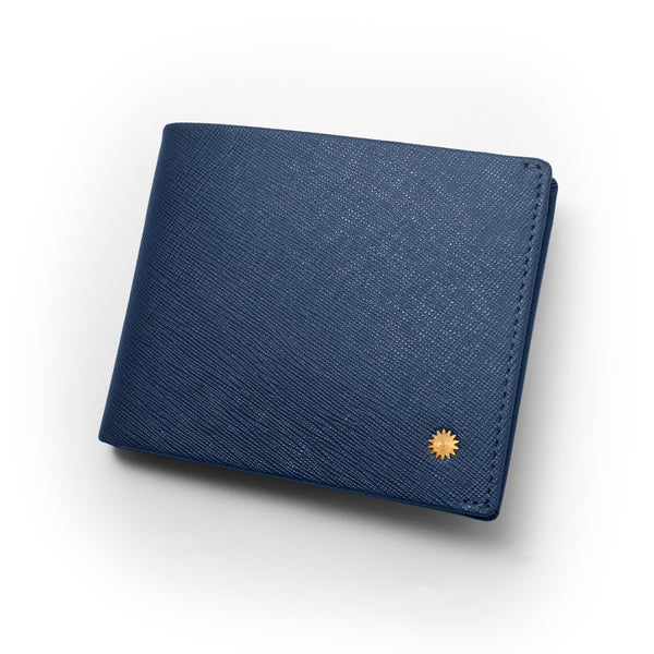 Saffiano Blue Slim Wallet / W2