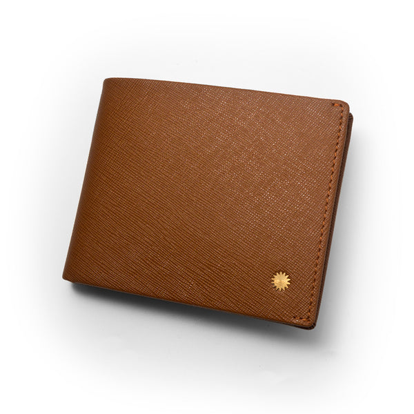 Saffiano Brown Slim Wallet / W2