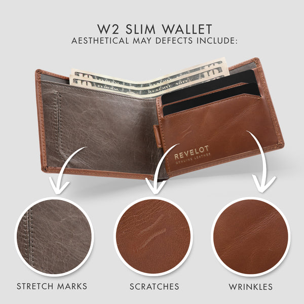 Brown Classic W2 Slim Wallet