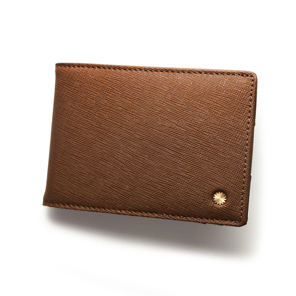 Saffiano Brown Slim Wallet Pro / W4