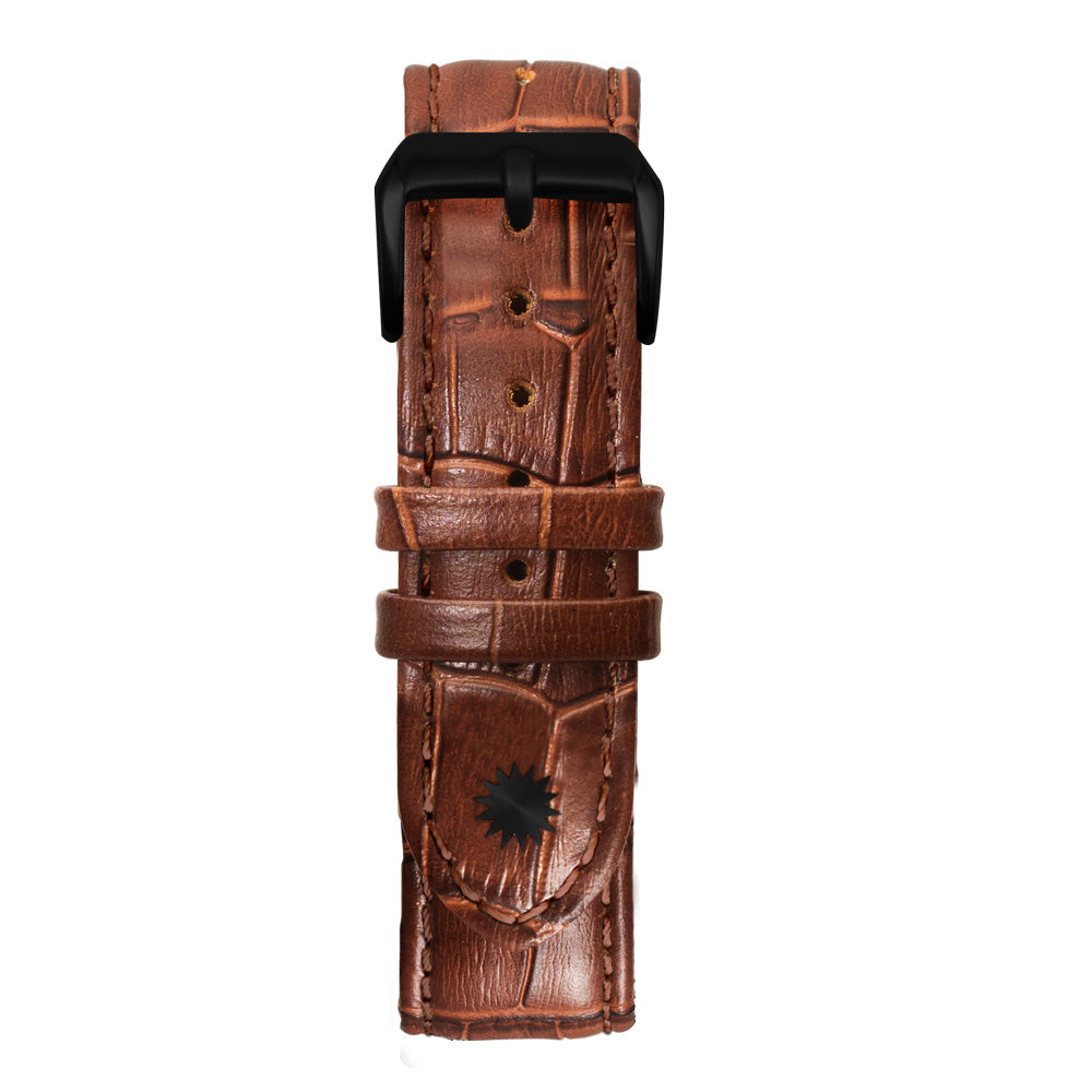22' Brown Bamboo Leather Strap