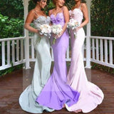 New Arrival Online Sexy Mermaid Backless Spaghetti Strap Sweet Heart Lace Long Bridesmaid Dresses, WG119