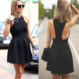 Popular black simple cocktail homecoming prom dresses, Little Black Dresses, SF0036
