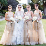 Gorgeous Sweetheart Long Lace Dresses for Maid of Honor, Cheap Wedding Guest Dress