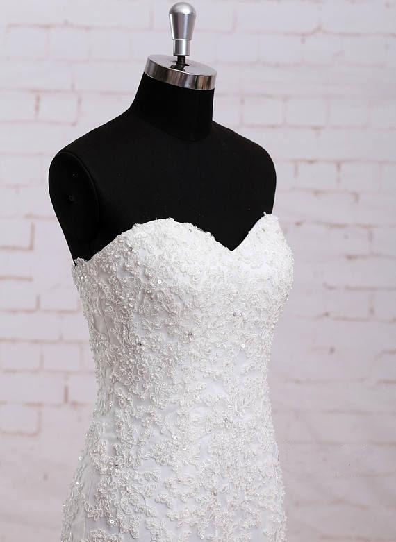 Classice Sweetheart Lace Mermaid Wedding Dresses Online, WD393