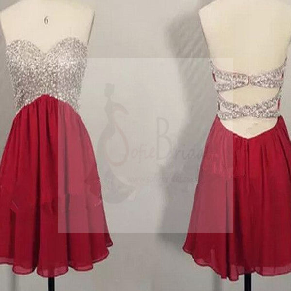 Popular sweetheart sparkly open backs sexy for teens cocktail evening party homecoming prom dresses, BD00183
