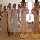 Off Shoulder Sweetheart Side Split Lace Sexy Mermaid Affordable Wedding Guest Dresses