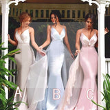 New Arrival Unique Design Spaghetti Strap Sexy Mermaid Impressive Wedding Party Bridesmaid Dresses