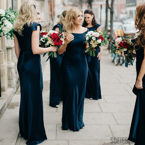Mismatched Bridesmaid Dresses, Modern Bridesmaid Dresses, Long Bridesmaid Dresses, PD0402
