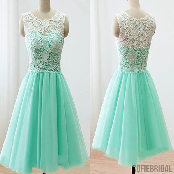 2016 mint lace lovely simple elegant homecoming prom bridesmaid dress, SF0005