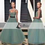 Inspired By Kate Bosworth Vanity Fair Oscars Party Prom Dresses, Long Tulle Prom Dresses , PD0382