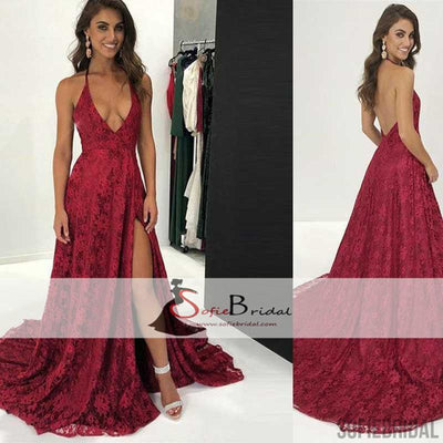Backless Lace Prom Dress