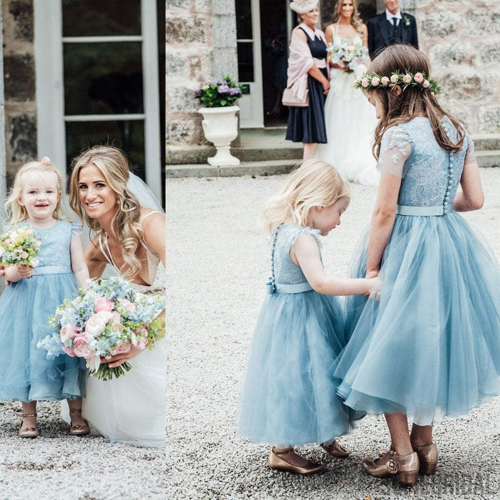 Junior Bridesmaid Dresses Grey Elastic