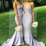 Unique Sweet Heart Sexy Mermaid Affordable Long Wedding Guest Dresses Charming Bridesmaid Dresses, WG36
