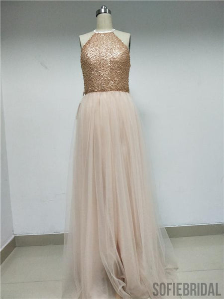 Sequin Tulle Prom/Bridesmaid Dresses_US4, SOD004