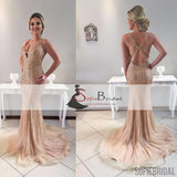 Sparkle Rhinestone Tulle Prom Dresses, Affordable Sexy Mermaid Prom Dresses, PD0417