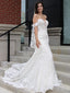 Cheap Mermaid Sweetheart Lace Long Wedding Dresses Online,SFWD0023