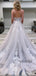 Cheap Spaghetti Straps Tulle A-line Long Wedding Dresses Online,SFWD0024