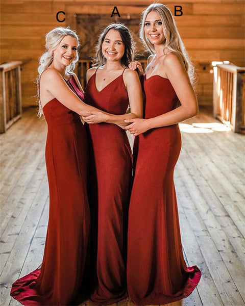 Mismatched Chiffon Long Newest Bridesmaid Dresses, PD0970