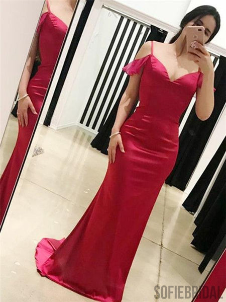 Simple Hot Pink Prom Dresses, Mermaid Prom Dresses, Long Prom Dresses, Cheap Prom Dresses, PD0645