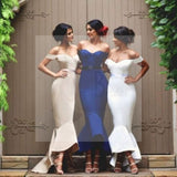 Unique Sexy Mermaid Off Shoulder Sweet Heart Charming Long Wedding Party Dress, WG58