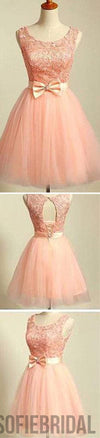 2016 peach pink lace lovely for teens modest formal homecoming prom gowns dress,SF0010