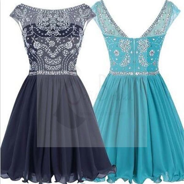 Short V-back Junior Homecoming Dresses, Popular Graduation Sweet 16 Dress