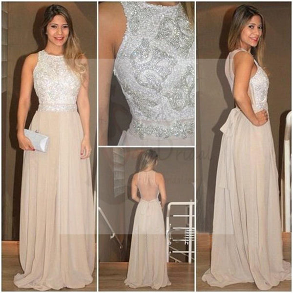 See Through Back Prom Dresses, Cheap Popular Evening Dresses, Long Prom Dress