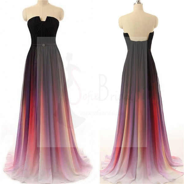 Long Prom Dresses, Gradient Prom Dresses, Party Prom Dresses, Chiffon bridesmaid dress, Cheap Prom Dresses, Popular Prom Dresses, Prom Dresses Online, PD0111