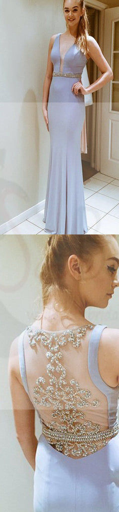 Deep V-Neck Prom Dresses, Side Slit Prom Dresses, Pretty Dresses, See-through Back Prom Dresses, Cocktail Prom Dresses, Evening Dresses, Long Prom Dress, Prom Dresses Online