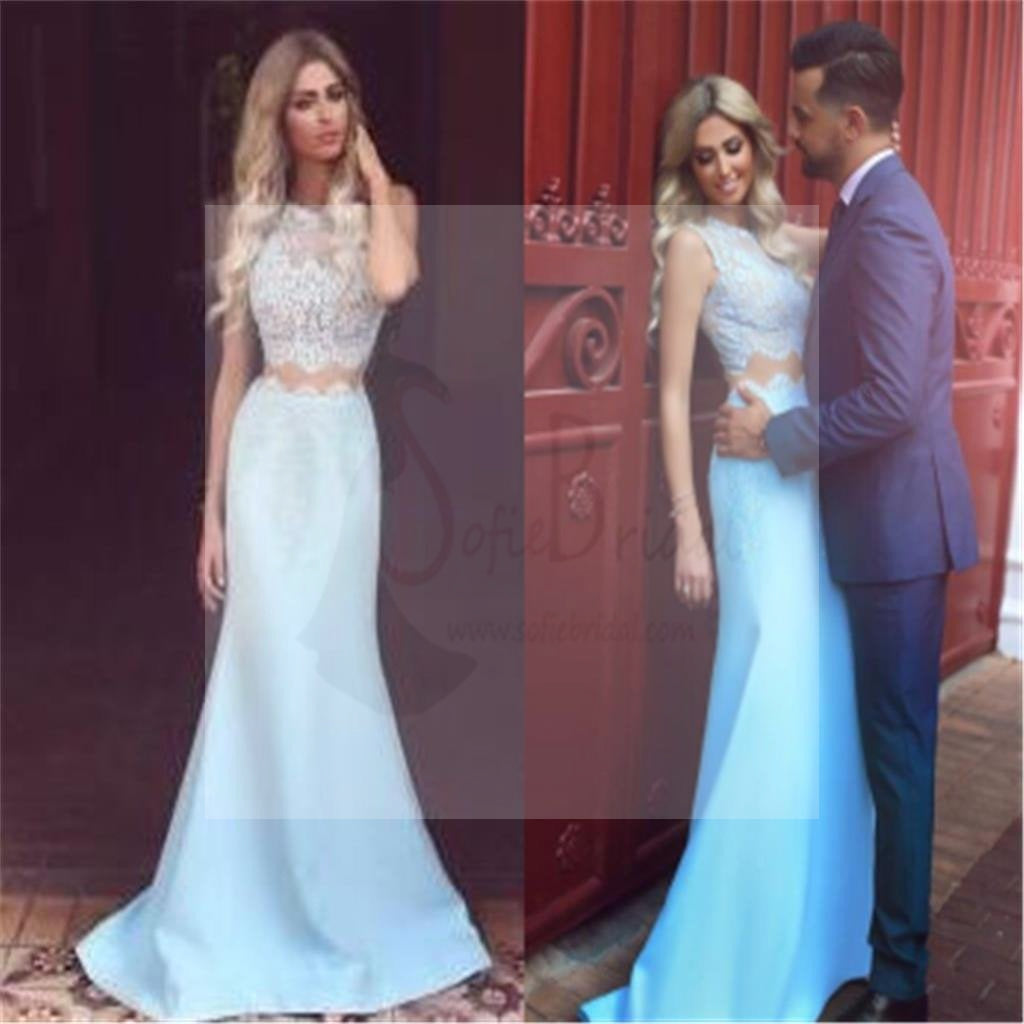 Two Pieces Prom Dresses, Strapless Mermaid Prom Dresses, Fashion Prom Dresses, Party Dresses, Evening Dresses,Long Prom Dress