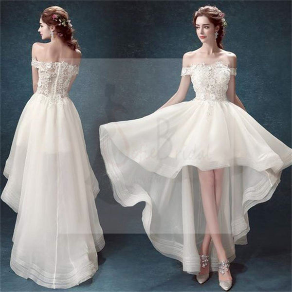 High Low Prom Dresses,Off Shoulder Prom Dresses, White Organza Prom Dresses, Cheap Wedding Dresses, Party Dresses, Cocktail Prom Dresses, Evening Dresses, Long Prom Dress, Prom Dresses Online,PD0197
