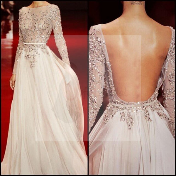 Long Sleeves Prom Dresses, Charming Prom Dresses, Floor-length Prom Dresses, Backless Prom Dresses, Party Dresses, Cocktail Prom Dresses, Evening Dresses, Long Prom Dress, Prom Dresses Online, PD0201
