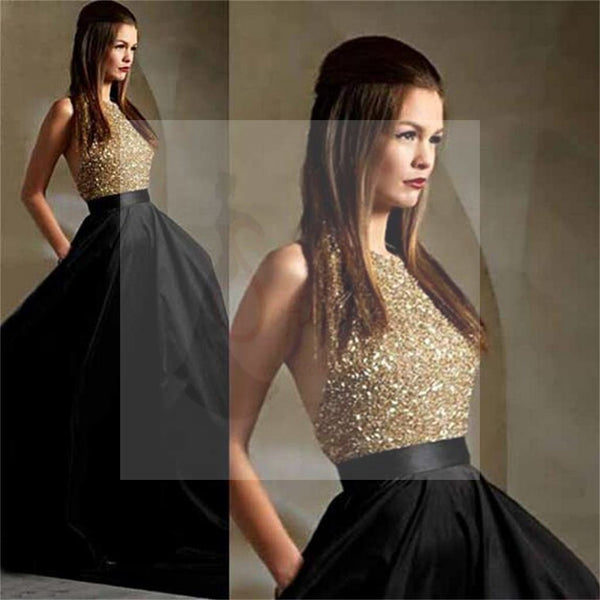 Long Prom Dresses, Black Prom Dresses, Party Prom Dresses, Ball Gown, A-Line Prom Dresses, Sparkle Prom Dresses, Cheap Popular Prom Dresses, PD0023