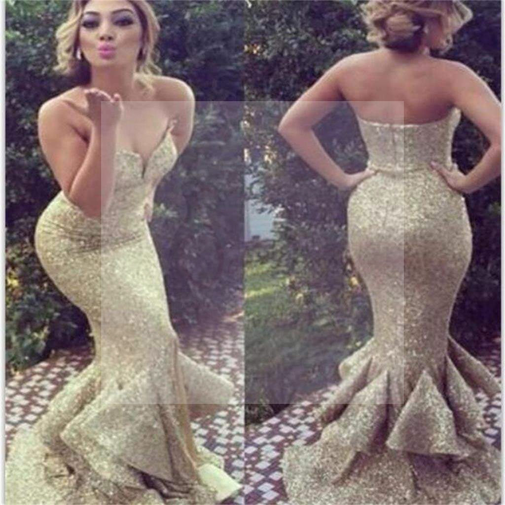 Gold Sequin Prom Dresses, Sparkle Prom Dresses, Sweetheart Long Prom Dresses, Charming Prom Dresses, Party Prom Dresses, Evening Prom Dresses, Elegant Prom Dresses Online, PD0079