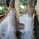 Long Sheath Sleeveless Prom Dresses, Sparkle Prom Dresses, Elegant Prom Dresses, Gorgeous Wedding Dresses, WD0127